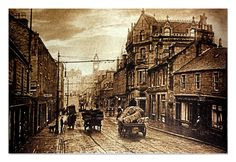 Flights Lane on LHS and great view of High Street Lochee. 114 High St home to my Great Great Grandparents Webster's Dundee City, Online Scrapbook, Great Grandparents, Past Life, Great View, Family History, Great Britain, Old Photos, Scotland