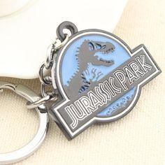 Top Grade Classic Steampunk Horror Movie Jurassic Park World Dinosaur Keychain Vintage Gothic Bronze Dragon Men Key Chains Ring Alternative Measures