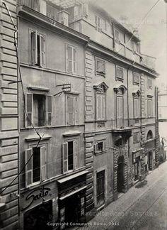 Roma Sparita - Via Alessandrina, casa di Flaminio Ponzio prima della demolizione (1927-1928)