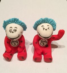 Thing 1 and thing 2 cake toppers by My Artisan Bakery