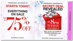 New York & Company Black Friday 2017 Ad Scan, Deals and Sales New York & Company's 2017 Black Friday ad is here! Starting on Wednesday, November you can get up to off everything in-store and online. Black Saturday, Black Friday Ads, Best Black Friday, Stage Stores, Secret Deals, Deal Sale, New York And Company, Everything, How To Find Out