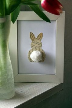 Easter Craft Ideas: Cottontail Bunny Daily update on my blog: im begining to love bunnies
