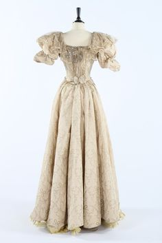 Evening dress ca. 1895  From Kerry Taylor AuctionsFripperies and Fobs