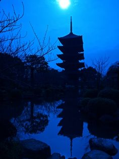 To-ji, Kyoto, Japan #blue