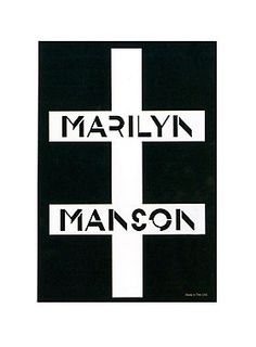 "<p>Black & white sticker from Marilyn Manson with cross logo design.</p>  <ul> 	<li><span id=""bullet0"">2 1/2"" x 3 1/4""</span><span id=""bullet0Span""> </span></li> 	<li><span id=""bullet1"">Made in USA</span></li> </ul>"