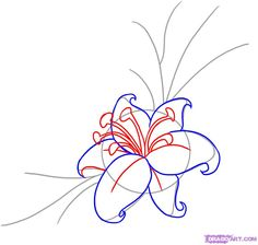 how to draw a flower tattoo step 3