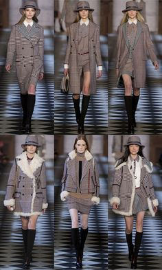 I'm a sucker for a great coat and this collection has a bunch of them. I agree with one of the commentators that said  the collection is reminiscent of Emma Peel. Spot on! (Tommy Hilfiger Fall 2013 Collection)