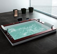 It might not be a hot tub kind of day so take the party inside with the Jazz Series A510.http://www.soakbath.ca/index.php/site/productsBathtubsItem/a510/