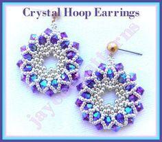 Crystal Hoop earring