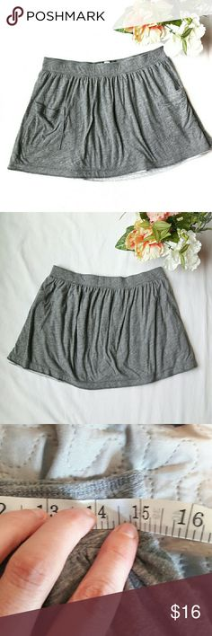 Abercrombie & Fitch ⏺️ double pocket skirt Super cute and soft mini skirt by Abercrombie and Fitch. Gray in color. Has double pockets on the front with the A&F logo on one of them. Has a light gray lining underneath. Measurements provided in pics above. True to size. From a smoke and pet free home. Fast shipping! Office - Vacation - Wedding - Fun - Dress up - date night - cruise - spring - summer *IF YOU LIKE MY ITEMS, please FOLLOW ME to see NEW ARRIVALS that are added weekly! * Abercrombie…