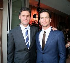 Uh this two <3 Matt Bomer & Simon Halls .. aww i miss hubby pics .. cutest couple ever <3