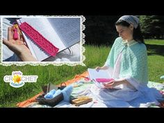Polka Dot Bookmark Cottagecore Crochet Tutorial - YouTube Picnic Blanket, Outdoor Blanket, Bookmarks, Free Crochet, Crochet Patterns, Polka Dots, Knitting, Crocheting, Stitches