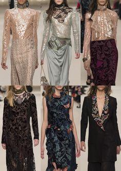 08-lanvin-aw1617 - Shiny Lace Pattern – Dynasty Era – Aplique Art Deco Embroidery – Art Deco Velvets – Paisley Devore – Ornate Jewelled Lapels
