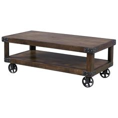 Industrial Cocktail Table with Shelf by Aspenhome at Becker Furniture World