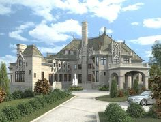 The Chateau Novella luxury house plan is a house plan designer's dream. This small castle has everything you can think of and more under 8000 sq ft.