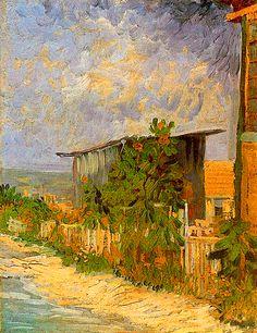 """""""Cobertizo en Montmarte con girasoles"""", Vincent Van Gogh. Another unknown masterpiece?:"""