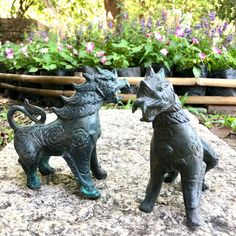 """Excited to share this item from my #etsy shop: 5.1"""" Pair Of Chinese Guardian Lions Foo Dog Fu Dog Statue Ornament Thai Singha Thai Elephant, Chinese Buddhism, Fu Dog, Lion Dog, Gautama Buddha, Guanyin, Lions, Thailand, Statue"""
