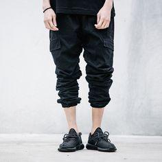 Man Si Tun 2017 New Dry Men's Pants Full Length Men HIPHOP joggers Pants Plus Size Trousers Sweatpants men women street Jogger Pants, Cargo Pants, Men's Pants, Trousers, Hip Hop Fashion, Urban Fashion, Black Joggers, Black Jeans, Designer Joggers
