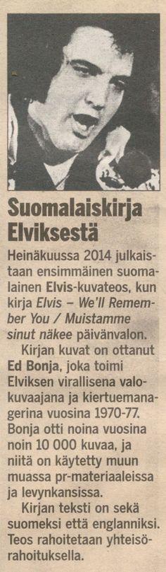 Uutiskynnys on ylitetty! The OEPFC of Finlandin ja Kotkan alajaosto KEA:n laatima Elvis - We'll Remember You -kuvakirjatiedote julkaistiin uutismuodossa Ilta-Sanomissa tänään. STT:lle ja Suomen valtamedioille osoitettu tiedote sai huomiota osakseen maamme laajalevikkisimmässä sanomalehdessä (Kansallisen mediatutkimus, KMT, 17.9.2013) tänään maanantaina, neljä viikkoa Mesenaatti-yhteisörahoitusprojektimme julkistamisen jälkeen.  http://mesenaatti.me/elvis-well-remember-you/