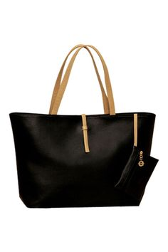ROMWE   Double Straps PU Black Casual Bag, The Latest Street Fashion
