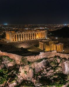 Attica Athens, Athens Greece, Parthenon, Acropolis, Ancient Ruins, Ancient Greece, Athens By Night, Places To Travel, Places To Go