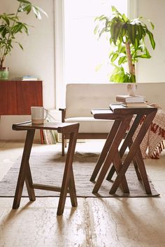 Mid-Century Angled Nesting Tables - Urban Outfitters
