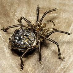 Clockwork Spider, Sculpture by CatherinetteRings  of DeviantART