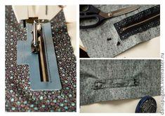 MK pocket zippered leather frame - Fair Masters - handmade, handmade