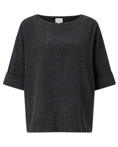 Wool Blend Check Top | East