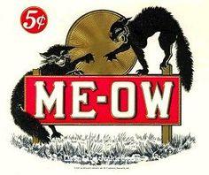 Meow- cigar box label