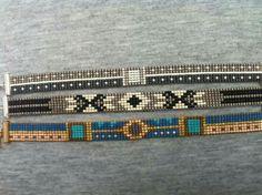 Loom Bracelet Patterns, Bead Loom Bracelets, Bead Loom Patterns, Beaded Jewelry Patterns, Bead Loom Designs, Seed Bead Projects, Bead Jewellery, Simple Jewelry, Loom Beading
