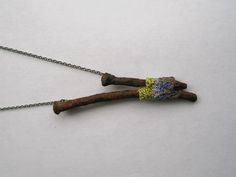 Liz Willis Contemporary Jewellery - pendant with old nails (jewelry with nails)