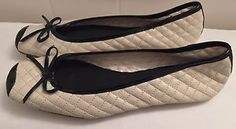 White Black Quilted Shelly'S Ballet Flat Ladies Shoes Coco Size 36 5 5 TO 6 | eBay