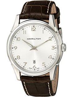 Hamilton Men's H38511553 Jazzmaster Thinline Silver Dial Watch ❤ Hamilton
