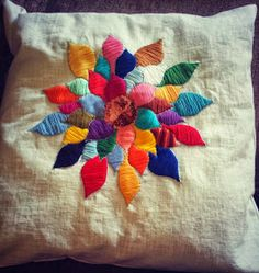 Win this hand embroidered cushion cover Embroidered Cushions, Giveaway, Homemade, Embroidery, Cover, Blog, Needlepoint, Home Made, Blogging