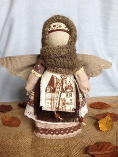 Купить Кукла Ангел Счастье в Дом (кофейный, коричневый, бежевый, белый) - бежевый, ангел