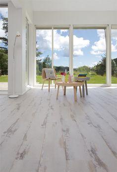 Alloc Original White Vintage Oak laminate flooring available at Flooring Market.