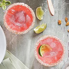 2012 Best Recipes | Pink Cadillac Margaritas | SouthernLiving.com Mix up several batches of Pink Cadillac Margaritas 3 to 4 hours before the party starts, and chill in decorative bottles or pitchers, ready to shake and serve when guests arrive.