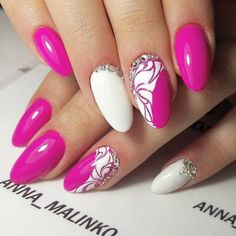 Summer nail colors are always bright and gorgeous. They attract much attention to your nails. Get out of your winter rut and start swiping these hot shades for summer.Try it now and surely you will love it! Simple Nail Art Designs, Easy Nail Art, Acrylic Nail Designs, Beautiful Nail Designs, Acrylic Nails, Fancy Nails, Trendy Nails, Pink Nails, Cute Nails