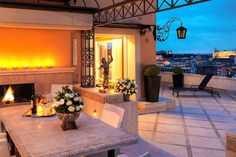 Penthouse Villa Medici Terrace at the Hotel Hassler #Rome #Italy