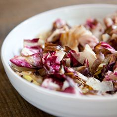 grilled radicchio and endive salad with a sweet dijon dressing