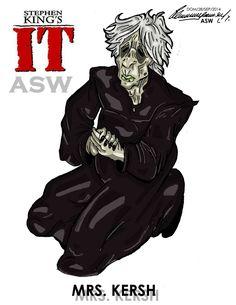 Pennywise Mrs Kersh Stephen King`s IT FanArt by AlexGangster20Comic on DeviantArt