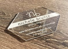 Clear Acrylic business card with white engraving. Transparent Business Cards, Clear Business Cards, Plastic Business Cards, Free Business Card Design, Spot Uv, Plastic Card, Foil Stamping, Acrylic Colors, Creative Logo