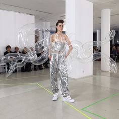 from dezeen.com Fashion by Nan Li  the inflatable parts were manufactured by Luft & Laune