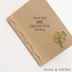 Book Binding Tutorial with Embroidered Cover is part of Book binding diy - Learn to bind a beautiful handmade book with this Hemp Stitch Japanese Book Binding Tutorial Hand embroider the book cover with a special motif Handmade Journals, Handmade Books, Handmade Rugs, Handmade Crafts, Book Binding Design, Book Design, Cover Design, Design Ideas, Japanese Stab Binding