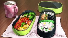 Anime Food - series/film/OVA from the to All screenshots taken by me unless stated otherwise (sources are credited) Anime Bento, Manga, Real Food Recipes, Yummy Food, Bento Recipes, Bento Ideas, Food Porn, Cute Bento, True Food