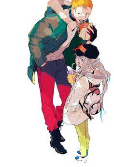touken ranbu 刀剣乱舞 Iwatooshi and Imanotsurugi Character Concept, Character Design, Character Art, Manga Anime, Anime Art, Figure Sketching, Manga Characters, Memento Mori, Anime Outfits