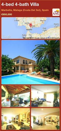 4-bed 4-bath Villa in Marbella, Malaga (Costa Del Sol), Spain ►€950,000 #PropertyForSaleInSpain