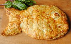 World Category: Russian Coulibiac Pie (poached fish, rice, hardboiled eggs with puff pastry or brioche)