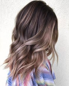 the trendy of balayage ombre hair color – Page 9 Ombre Hair Color, Hair Color Balayage, Brown Hair Colors, Hair Highlights, Blonde Balayage, Soft Balayage, Balayage Hairstyle, Ash Brown Highlights, Ash Blonde